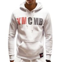 Ymcmb - Sweat à Capuche - Homme - Hs623 - Blanc