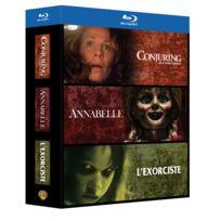 WARNER BROS - coffret horreur blu-ray : conjuring : les dossiers warren + annabelle + l'exorciste