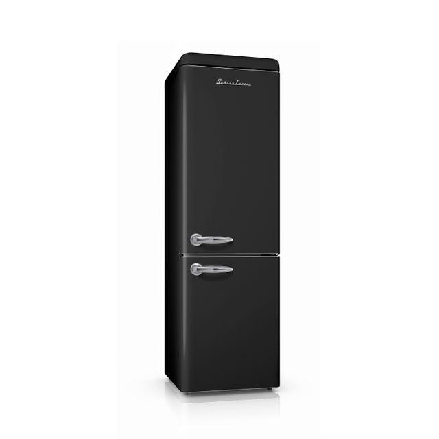 Schaub Lorenz Sl250CBB Réfrigérateur combiné inversé Vintage 250 Litres 178 litres + 72 Litres coloris noir - A