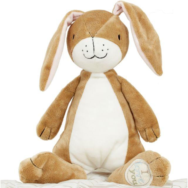 Pegane Peluche bébé amusant marron/blanc - 11 x 13 x 22 cm