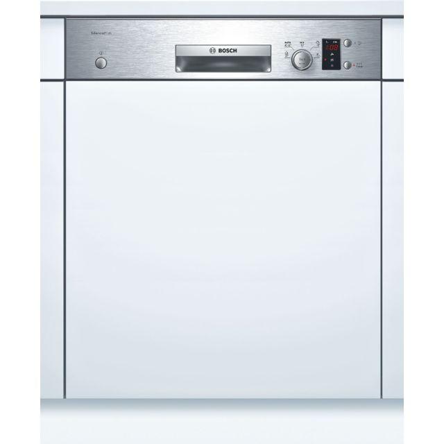 Bosch lave-vaisselle 60cm 12c 46db a+ intégrable avec bandeau inox - smi50e45eu