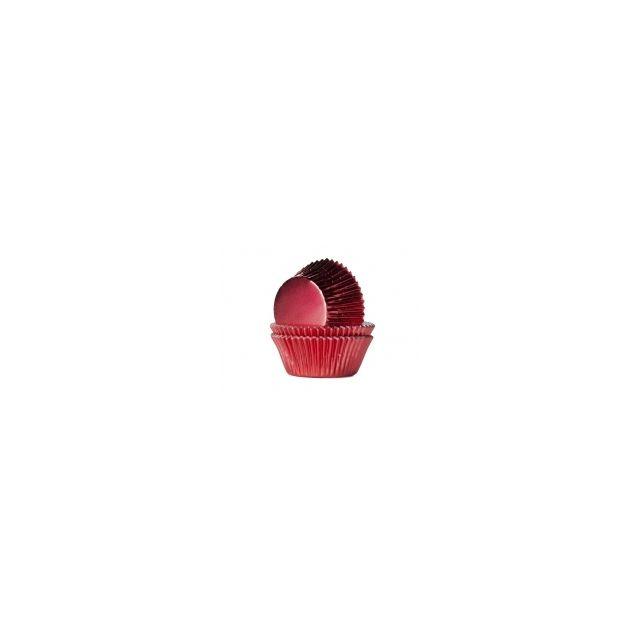 Caissettes métallisées rouge