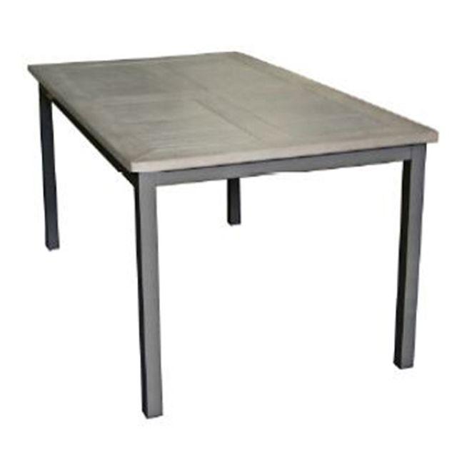 PEGANE - Table extensible de jardin en aluminium et résine ...