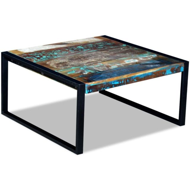 Vidaxl Table Basse 80 X 80 X 40 Cm En Bois De Recuperation