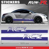 Run-R Stickers - 2 stickers Peugeot Rcz 200 cm - Marine - Adnauto