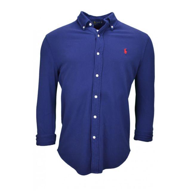 Marine Polo Bleu Pour Chemise Homme roedBCxW