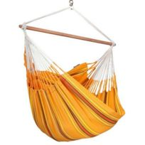 La Siesta - Chaise hamac lounger Currambera Apricot + set de fixation