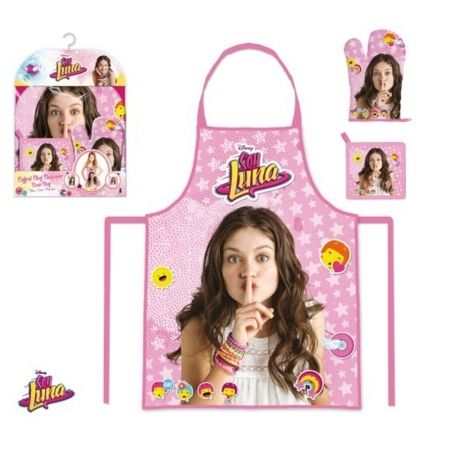 Soy Luna Set tablier chef cuisinier rose