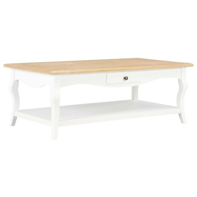 Vidaxl Table Basse Blanc Mdf Bout de Canapé Table d'Appoint Salon Maison