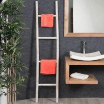Wanda Collection - Porte serviette échelle blanc