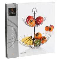 Corbeille fruits achat corbeille fruits pas cher rue du commerce - Corbeille a fruits 3 etages ...