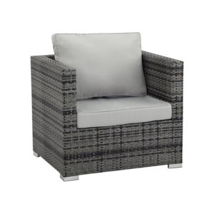 habitat et jardin fauteuil jardin en r sine tress e ibiza florida gris r sine gris. Black Bedroom Furniture Sets. Home Design Ideas