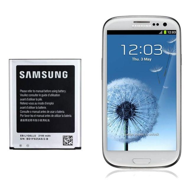 Batterie d'origine Eb l1G6LLU Batterie pour Galaxy S3 I9300 I9305