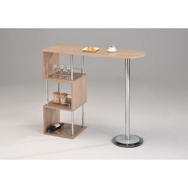5fb631657fa917 Meubletmoi - Table haute de bar Mdf - Mange Debout - Lina - pas cher ...