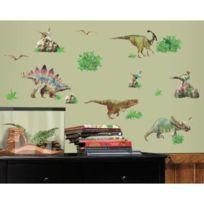 Roommates - Stickers Dinosaures Jurassique Repositionnables 25 stickers - jusqu'à 35 cm