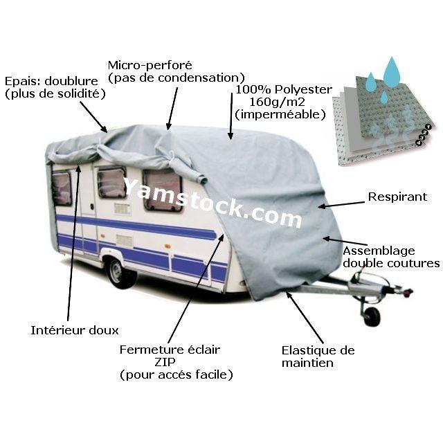 sumex housse de protection caravane pvc 585x225x220cm pas cher achat vente b che voiture. Black Bedroom Furniture Sets. Home Design Ideas