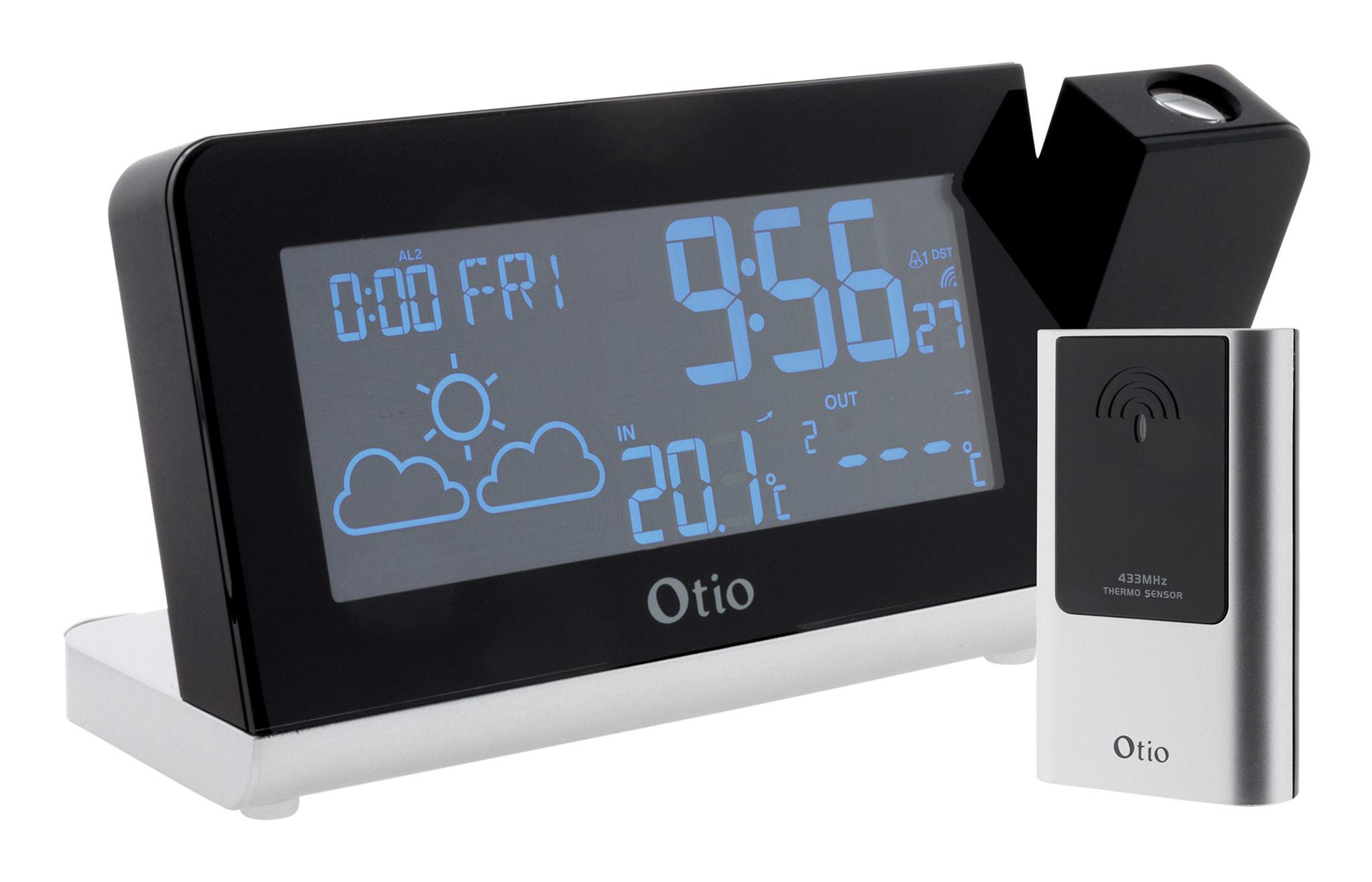 OTIO Station météo Monalisa à projection avec capteur externe sans fil - Otio