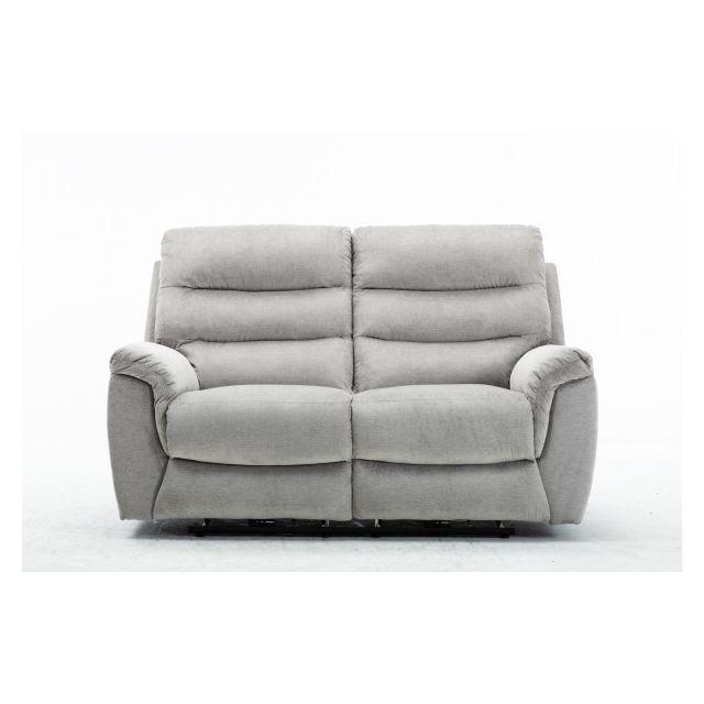 Moloo Arona-canapé 2 places tissu gris 2 Relax électriques