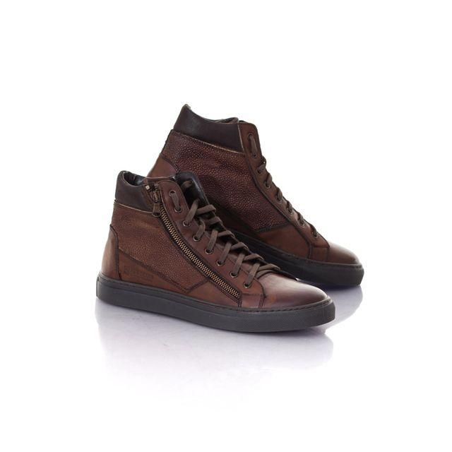 Redskins Chaussures Baskets en cuir Nerinel cognac marron