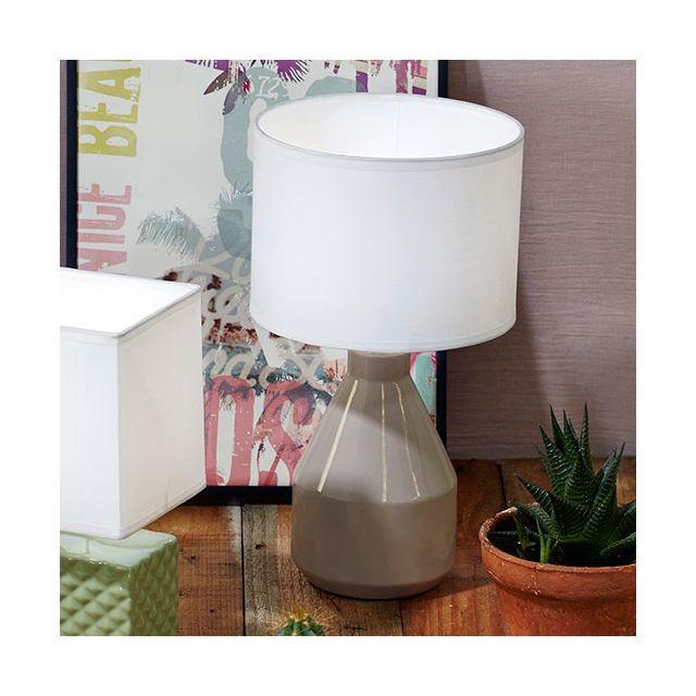 En Corep Jour Forme Lampe Pot Poser Céramique Avec Abat À Pied qzVpGSUM