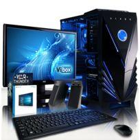 VIBOX - Processeur CPU AMD FX Quad Core - Carte Graphique Nvidia GTX 1050 Ti 4 Go - 16 Go RAM - Disque Dur 2 To - Windows 10