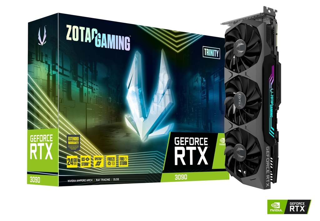 Carte graphique GeForce RTX 3090 24 GB Trinity Zotac Gaming