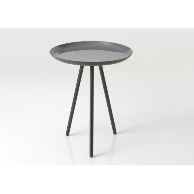 marque generique table bout de canape gris pas cher. Black Bedroom Furniture Sets. Home Design Ideas