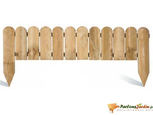 Bordure de jardin en bois à planter Stackette