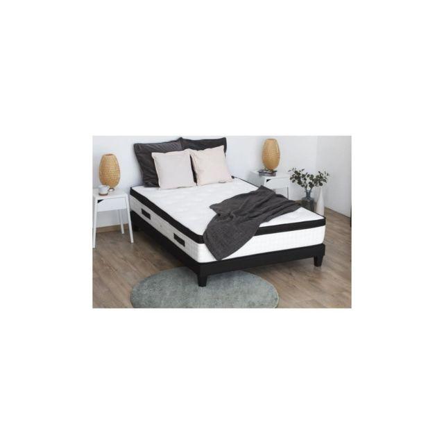 Confort Design Matelas 160 X 200 - Ressorts, Mousse Memoire Et Latex - 30 Cm - 7 Zones - Ferme - Hotel Quatuor