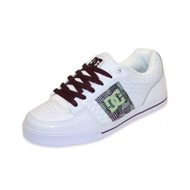 383173bfd117 Dc - Shoes Zone Slim Se Fl Prune White Bordeaux - 40 - pas cher Achat / Vente  Baskets homme - RueDuCommerce