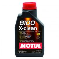 Motul - Huile Moteur 8100 X-clean C3 5W40 - Bidon de 2 L