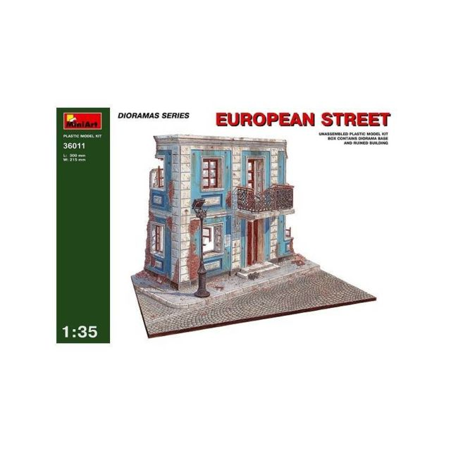 Mini Art European Street - Décor Modélisme