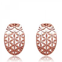 Bijoux En Vogue - Boucles d'oreilles Acier rose Rose