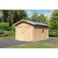KARIBU - Garage 28 mm pin naturel toit double pente surface HT 16,52 m2