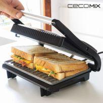 - Grill avec revêtement en pierre anti adhésif - machine pour Sandwish panini croque monsieur