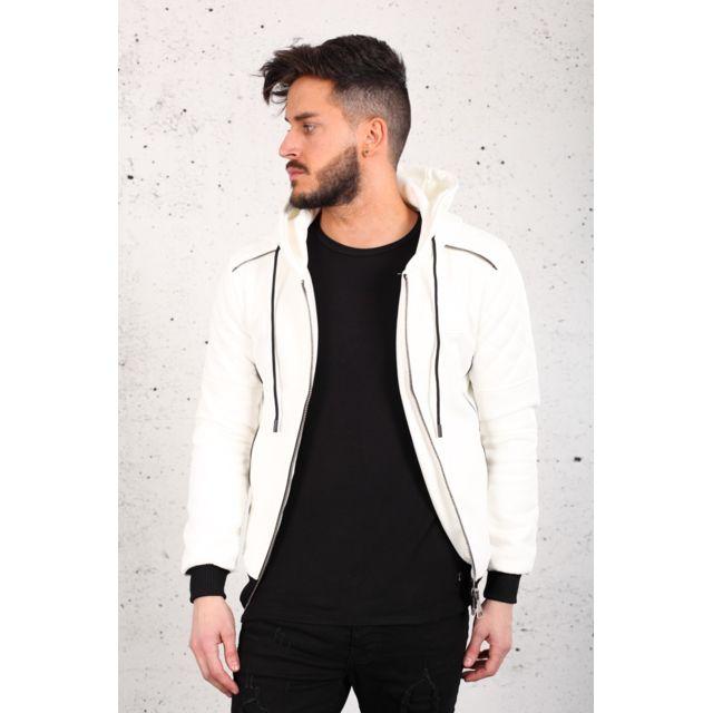 Uniplay Veste en suédine blanc /-v10