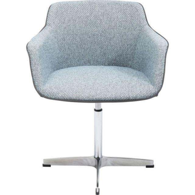 Karedesign chaise pivotante grise boston kare design pas cher achat vente chaises for Chaise kare design
