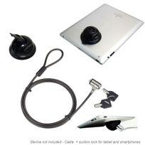 Mobility Gear - Antivol à clé et ventouse universelle pour Smartphone et Tablette - noir