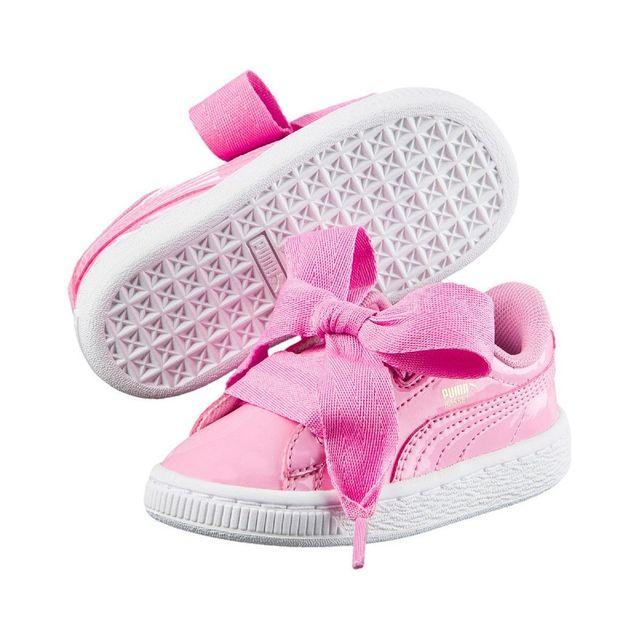 best website b3d31 c3bb3 Puma - Basket Heart Patent Cadet - 363352-03 - pas cher Achat   Vente  Baskets enfant - RueDuCommerce