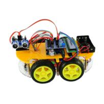 VIEW TEK - ViewTek RT0009 Kit Arduino Voiture intelligente Smart Car avec UNO 328 - Bluetooth & télécommande - Fonction Evitement d'obstacle suivi de ligne - Avec Guide images et avec 12 leçons/projets