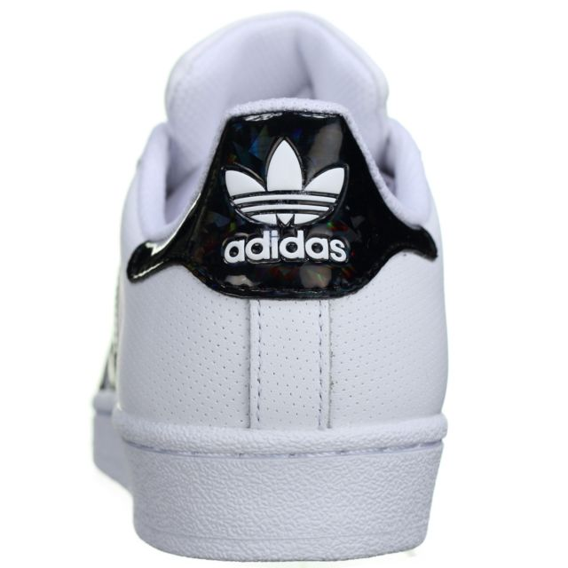 Adidas Superstar J Db1209 Blanc Noir pas cher Achat