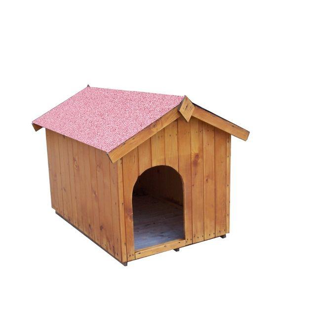 HABRITA Niche pour chien bi-pente pour chiens moyens - 0,96 m²