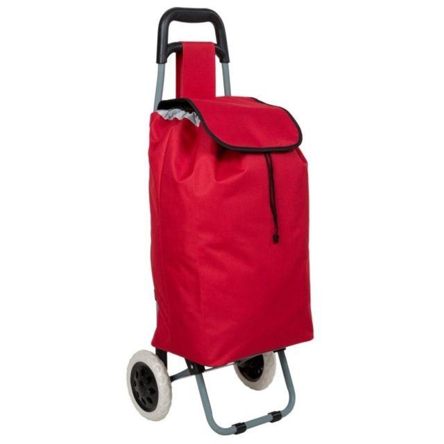 Helloshop26 - Poussette de marché à provisions pliable rouge 2008048
