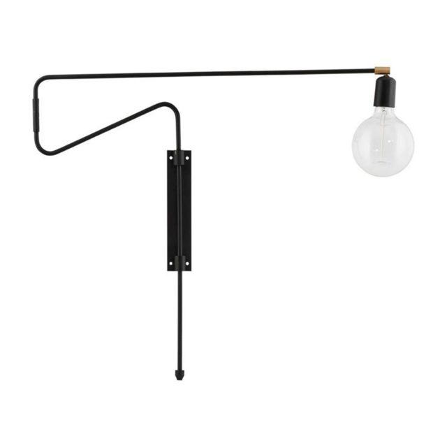 Pas House Orientable Noir Applique L70cm Doctor Murale Swing 2ID9EWH