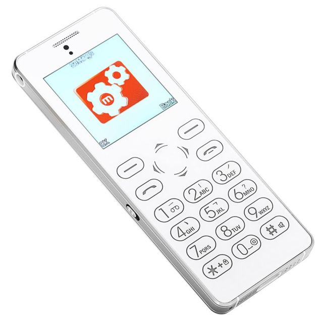 Auto-hightech Téléphone 1,54 pouces, caméra, lecteur audio, enregistreur - Argent