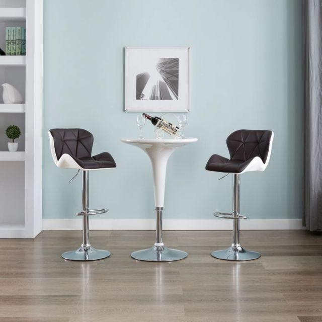 Admirable Fauteuils et chaises selection Oslo Tabouret de bar Marron Similicuir