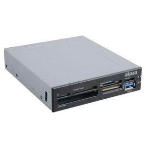 AKASA - Lecteur de cartes mémoire interne + port USB 3.0 pour baie 3'' 1/2