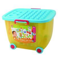 PlayGo - Mon Chariot De Rangement + Cubes Et Briques