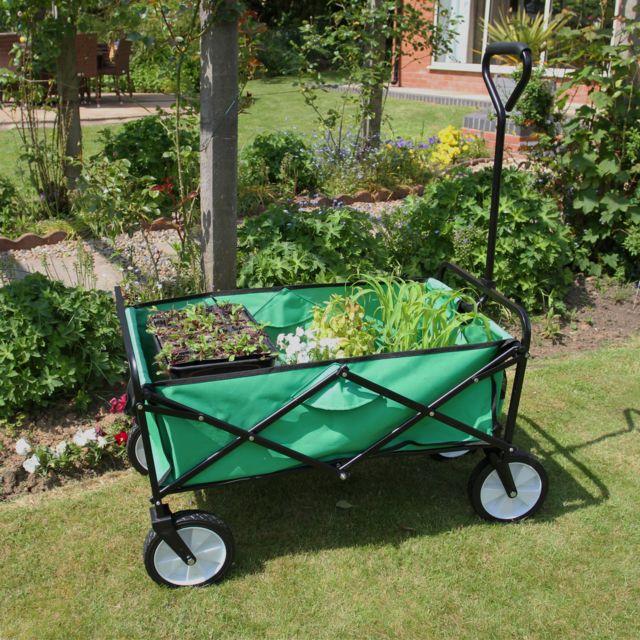 Draper Petit Chariot de Jardin /à Bascule Vert