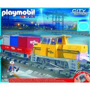 PLAYMOBIL - Train porte-conteneurs radio-commandé - 5258